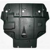 Защита картера двигателя и кпп Ford Focus V-все (2005-2011)/ C-Max (2003-2010)  (Композит 6 мм)