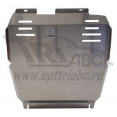 Защита картера двигателя и кпп JEEP Compas/Liberty 2.4 (2012-) (Алюминий 4 мм)