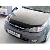 Дефлектор капота Chevrolet Lacetti (Шевроле Лачети) Sedan (2004-) (темный) 4дв