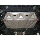 Защита картера двигателя и кпп Kia Rio (Киа Рио) (V-все, 2005-2011)  А штамп. (Сталь 1,8 мм)