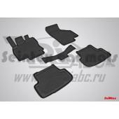 Коврики салона резиновые с бортиком для AUDI A3 (2012-) (задние коврики с перемычкой)