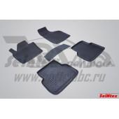 Коврики салона резиновые с бортиком для AUDI Q3 (2010-) (задние коврики с перемычкой)