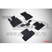 Коврики салона резиновые с бортиком для AUDI Q5 (2010-) (задние коврики с перемычкой)