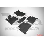 Коврики салона резиновые с бортиком для AUDI Q7 (2005-) (задние коврики с перемычкой)