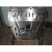 Защита картера двигателя и кпп Opel Astra (Опель Астра) (98-04) H; V-все (04-09)/ Zafira B(2006-12) (Сталь 1,8 мм)