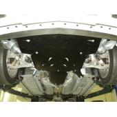Защита картера двигателя и кпп Cadillac CTS,V-3,6 полный привод (2011-)  из 2-х частей (Алюминий 4 мм)