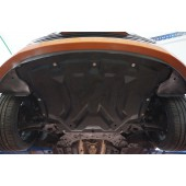 Защита картера двигателя и кпп HyundaiVeloster (V-1,6 АКПП, 2012-)  (Композит 6 мм)