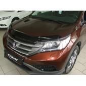 Дефлектор капота Honda (Хонда) CR-V (2012-) (темный)