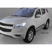 Пороги алюминиевые (Sapphire Silver) Chevrolet TrailBlazer (2013-)