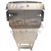 Защита картера двигателя и кппPorsche Macan S,V-все, АКПП, 4WD(2014-) (Алюминий 4 мм)