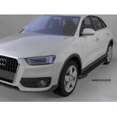 Пороги алюминиевые (Onyx) Audi (Ауди) Q3 (2011-)