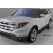 Пороги алюминиевые (Onyx) Ford Explorer (2011-)
