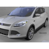 Пороги алюминиевые (Onyx) Ford Kuga (2013-)