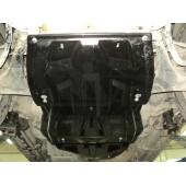 Защита картера двигателя и радиатора Mitsubishi Pajero (Митсубиши Паджеро) IV,V-3,0;3,2TD (06-)(Композит 8 мм)