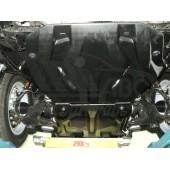 Защита картера двигателя и радиатора Toyota Land Cruiser (Тойота Ленд Круизер) Prado 150 V-все(2009-)/Lexus GX460 V-все(2009-)(Композит 10мм)