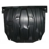 Защита картера двигателя и кпп Hyundai Solaris (Хёндай Соларис) V-1,4; 1,6(2010-2014-)  (Композит 6 мм)
