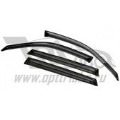 Дефлекторы боковых окон BMW X5 (2013-) 4дв (темный)