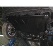 Защита картера двигателя и кпп Skoda Octavia (Шкода Октавия) (2013-) /Golf (Гольф) VII (2013-) V-1,4TSI, 1,6TSI,1,8TSI штамп. (Сталь 2 мм)