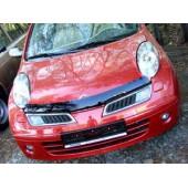 Дефлектор капота Nissan Micra (Ниссан Микра) (2002-2007) (темный)