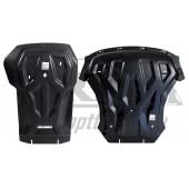 Защита картера двигателя и кпп BMW X5 (2013-) V- все, кроме X5M(10.2013-)/BMW X6 (2014-) V-все, кроме X6M , из 2-х частей(Композит 8 мм)