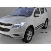 Пороги алюминиевые (Emerald silver ) Chevrolet TrailBlazer (2013-)