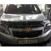 Дефлектор капота Chevrolet Orlando (2011-) темный