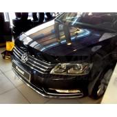 Дефлектор капота Volkswagen Passaт В7, SD, WG (2011-) темный