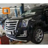 Защита переднего бампера Cadillac Ecalade (2014-) (одинарная) d 76