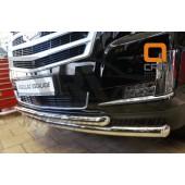 Защита переднего бампера Cadillac Ecalade (2014-) (двойная) d 76/76