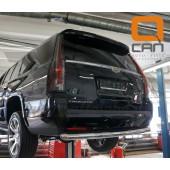Защита заднего бампера Cadillac Ecalade (2014-) (одинарная) d 76