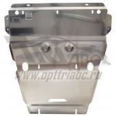 Защита картера двигателя и кпп Audi (Ауди) A4 (2008-11.2015)/А4 allroad (2009-)/A5(2007-) V-1,8T;2,0T; АКПП (Алюминий 4 мм)