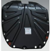Защита картера двигателя и кпп Hyundai Santa Fe (Хёндай Санта Фе) (V-все, 2006-2012)+ КПП  / IX 55 (V-все, 2007-) + КПП штамп.