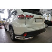 Защита заднего бампера Toyota Highlander (Тойота Хайлендер) (2014-) (уголки) d 60/42