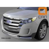 Защита переднего бампера Ford Edge (2014-) (двойная) d 76/60