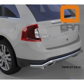 Защита заднего бампера Ford Edge (2014-) (одинарная волна) d 60