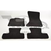 Коврики салона текстильные Audi (Ауди) Q5 (2008-) (Велюр, полиамид)(подпятник п/у)(черные)