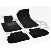 Коврики салона текстильные BMW 1 Е81 (3 дв.) (2007-2011) (Велюр, полиамид)(подпятник п/у)(черные)