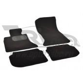 Коврики салона текстильные BMW 5 F10 (2010-2013) (Велюр, полиамид)(подпятник п/у)(черные)