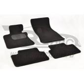 Коврики салона текстильные BMW 6 E63/64 (2003-2010) (Велюр, полиамид)(подпятник п/у)(черные)