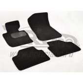 Коврики салона текстильные BMW X1 Е84 (2009-) (Велюр, полиамид)(подпятник п/у)(черные)