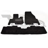 Коврики салона текстильные CADILLAC SRX (2010-) (Велюр, полиамид)(подпятник п/у)(черные)