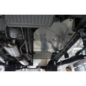 Защита днища Acura MDX'14 V-3,5 АКПП (2014-) из 4 частей (Алюминий 4 мм)