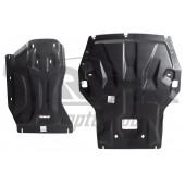 Защита картера двигателя и кпп BMW X1 полный привод V-1,8; 2,0TD (2011-2015)  из 2-х частей (Композит 8 мм)