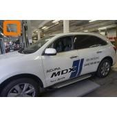 Пороги алюминиевые (Sapphire Silver) Acura MDX (2014-)
