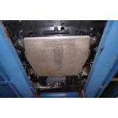 Защита картера Honda Civic 5D хэтчбек V-все (2012-) + КПП-все, (алюмин.)