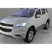 Пороги алюминиевые (Corund Silver) Chevrolet TrailBlazer (2013-)