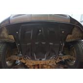 Защита картера двигателя и кпп Hyundai Santa Fe (Хёндай Санта Фе) V-2,4; 2,2TD АКПП (2012-2015-)  (Композит 8 мм)