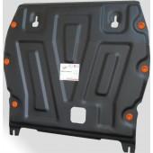 Защита картера двигателя и кпп Nissan Juke (V-1.6, 2011-)  штамп. (Сталь 1,8 мм)