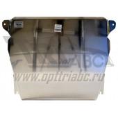 Защита картера двигателя и кпп Honda (Хонда) Civic (Цивик) 5D хэтчбек V-все (2012-) -все, (алюмин.)