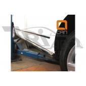 Защита штатных порогов Volkswagen T5 (2012-) (одинарная) d 60 (длинная база)